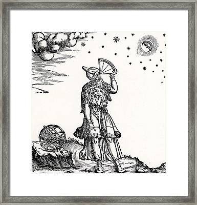 Astronomer, Probably Ptolemy Of Alexandria Framed Print by Venetian School