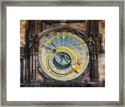 Astronomical Clock Framed Print by George Oze