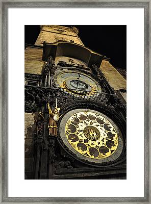 Astronomical Clock Framed Print by Heidi Pix