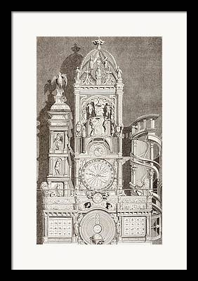 Astronomical Clock Drawings Framed Prints