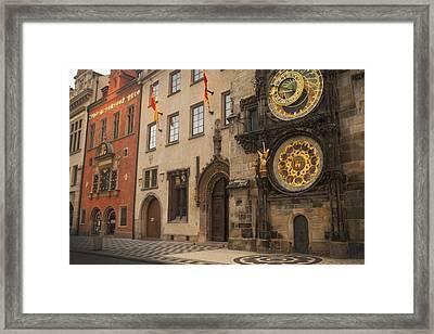 Astronomical Clock In Old Prague Framed Print