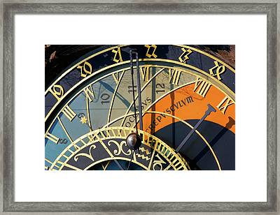 Astronomical Clock Prague Framed Print