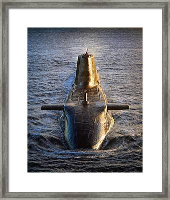 Astute Class Submarine Framed Print by Roy Pedersen