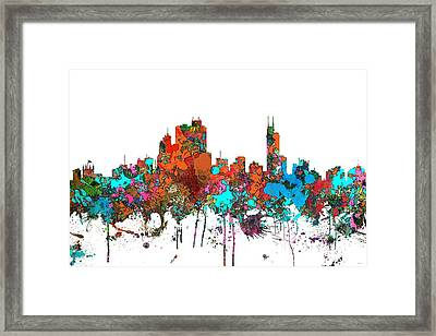 Asuncin Paraguay Skyline  Framed Print