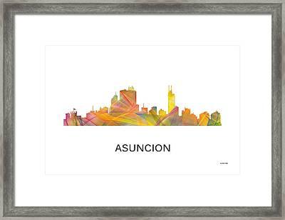 Asuncion Paraguay  Skyline Framed Print