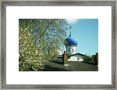 Asure Dome Framed Print
