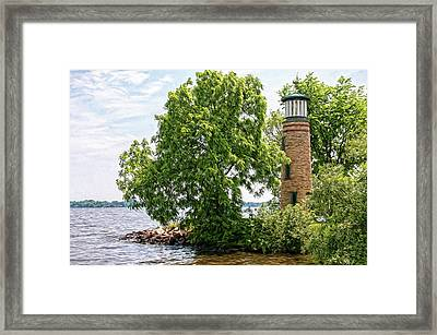 Asylum Point Lighthouse 1 Framed Print by Trey Foerster