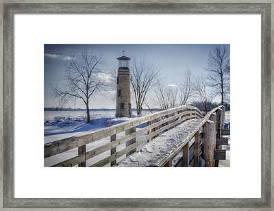 Asylum Point Lighthouse Framed Print