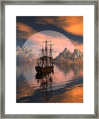 At Anchor Framed Print by Claude McCoy