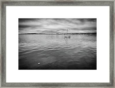 Framed Print featuring the photograph At Anchor In The Harbor by Rick Berk