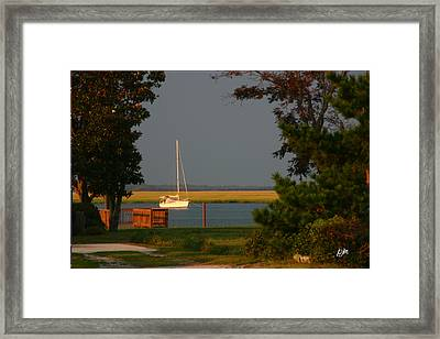 Framed Print featuring the photograph At Anchor by Phil Mancuso