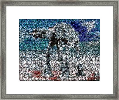 At-at Bottle Cap Mosaic Framed Print by Paul Van Scott