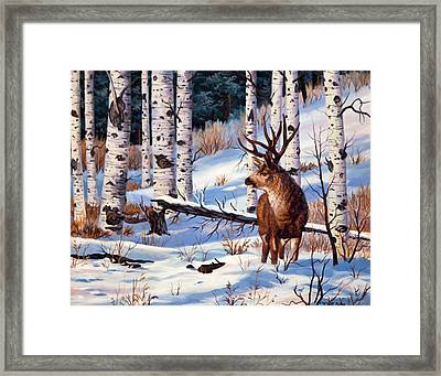 At Atttention Framed Print by W  Scott Fenton