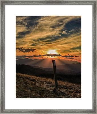 At Blaze Framed Print