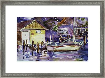 At Boat House 3 Framed Print