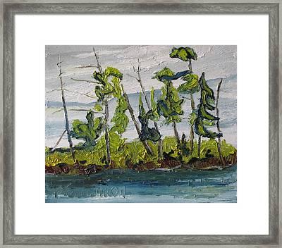 At Burbue Lake No 2 Framed Print by Francois Fournier