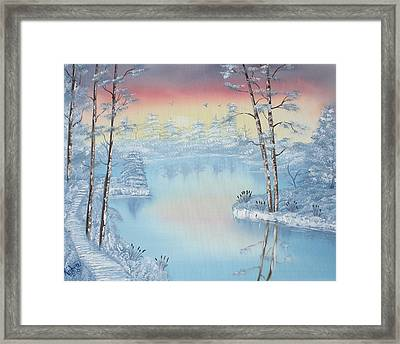 At Dawns Light  Framed Print