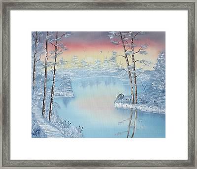 At Dawns Light  Framed Print