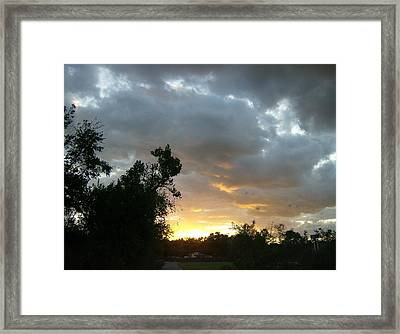 Framed Print featuring the photograph At Daybreak by Skyler Tipton