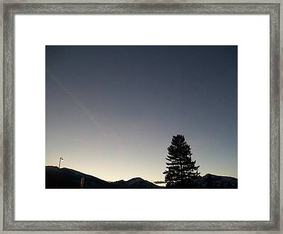 At Dusk Framed Print by Jewel Hengen