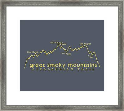At Elevation Profile Gsm Mustard Framed Print by Heather Applegate