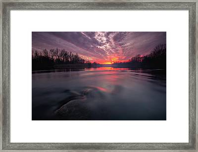 At End Of The Day Framed Print by Davorin Mance
