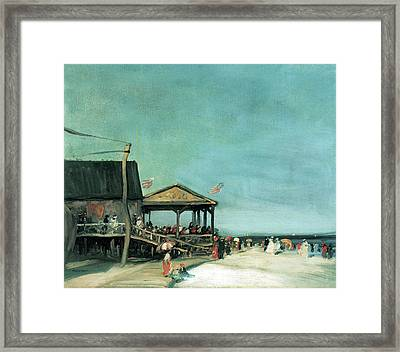 At Far Rockaway Framed Print by Robert Henri