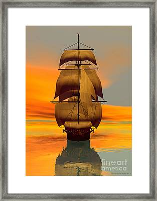 At Full Sail Framed Print
