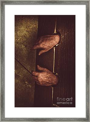 At Hand Of Public Humiliation Framed Print by Jorgo Photography - Wall Art Gallery