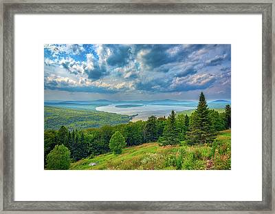 At Height Of Land Framed Print