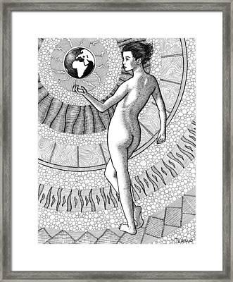 At Her Fingertips Framed Print