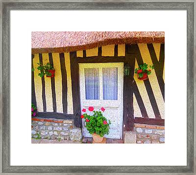 At Home In Normandy Framed Print by Ann Johndro-Collins