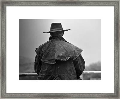 At Home On The Range #3 Black And White Framed Print