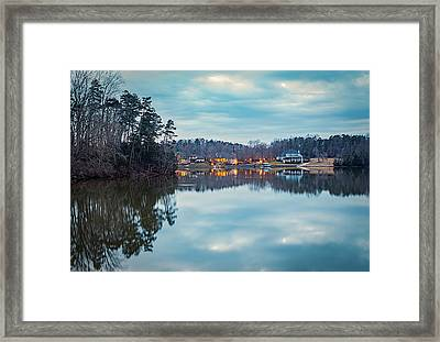 At Home On The Lake Framed Print