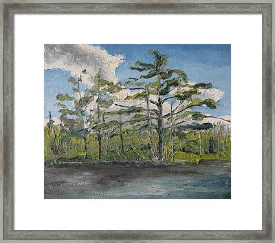 At Islands Lake No1 Framed Print by Francois Fournier