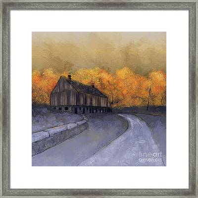 Framed Print featuring the digital art At Just Dawn by Lois Bryan