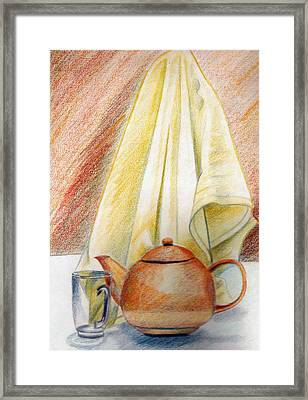 At Kitchen Framed Print by Zara GDezfuli