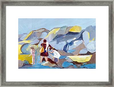 At Laguna Beach Framed Print by Betty Pieper