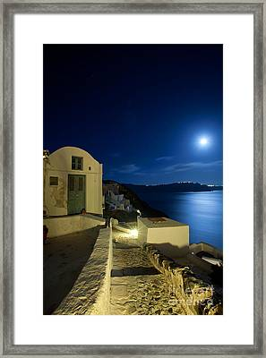 Framed Print featuring the photograph At Midnight by Aiolos Greek Collections