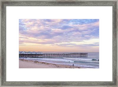 At Mission Beach Framed Print by Joseph S Giacalone