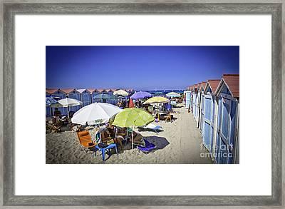 At Mondello Beach - Sicily Framed Print by Madeline Ellis