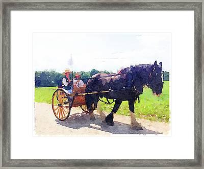 At Mount Vernon Framed Print