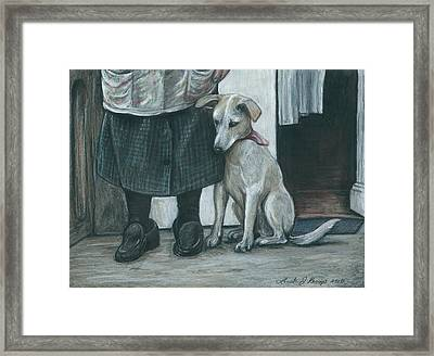 At My Side Framed Print