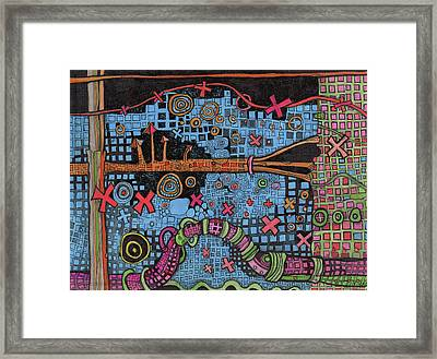 At Night In The City Framed Print by Sandra Church