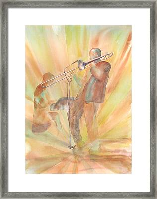 At One With The Music Framed Print by Debbie Lewis
