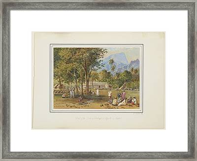 At Papeete, Tahiti, 1869, By Nicholas Chevalier. 2 Framed Print