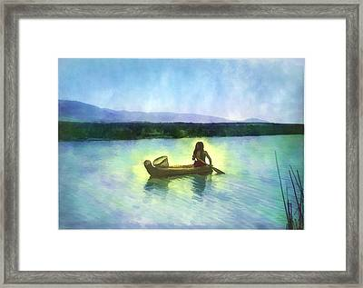 At Peace On The Water Framed Print