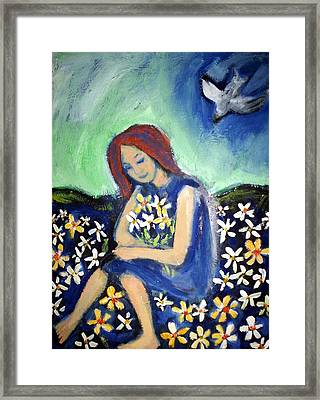 Framed Print featuring the painting At Peace by Winsome Gunning