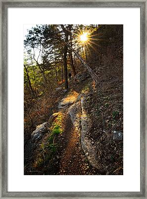 At Peace With Yourself - Bella Vista Arkansas Framed Print by Lourry Legarde