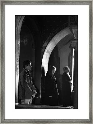 At Prayer Framed Print by Julia Bridget Hayes